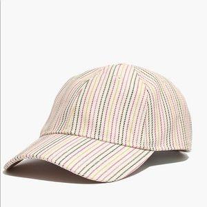 Madewell Baseball Cap in Pink Multistripe